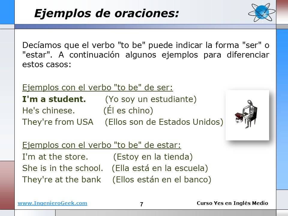 "1.1 - El verbo ""to be"", oraciones"