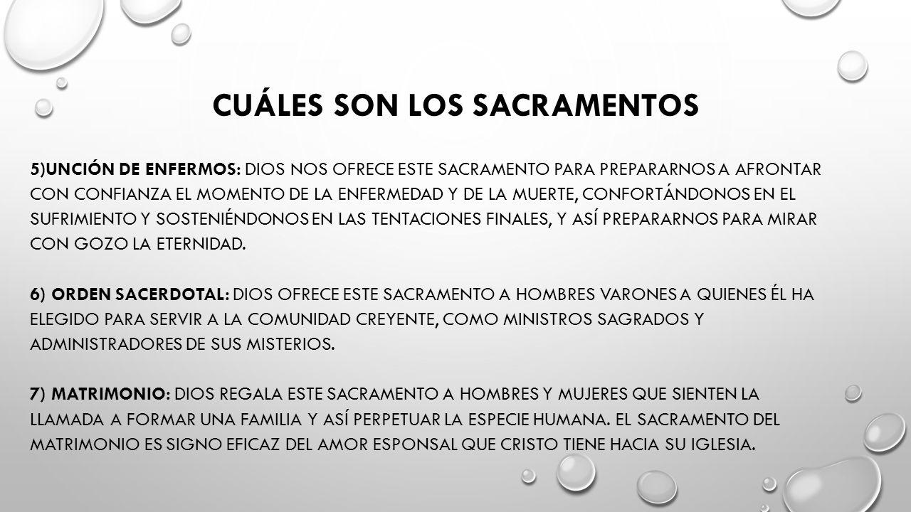 Ley Los Sacramentos Dios 7 La De De