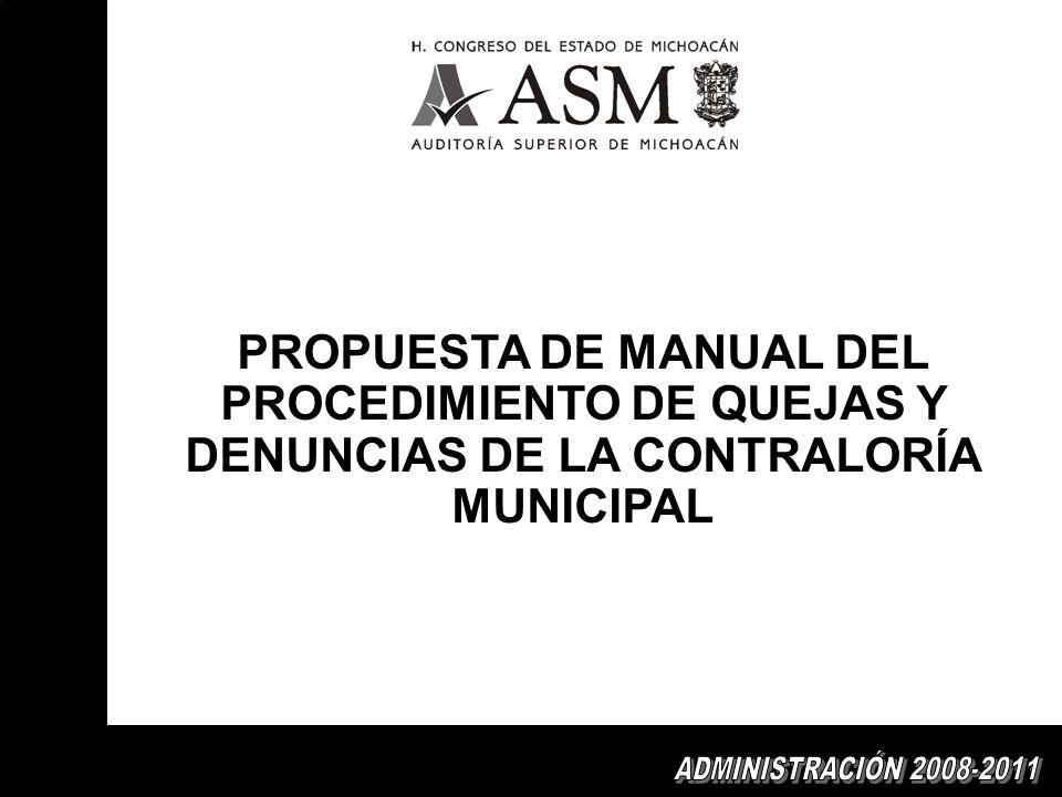 PROPUESTA DE MANUAL DEL PROCEDIMIENTO DE QUEJAS Y