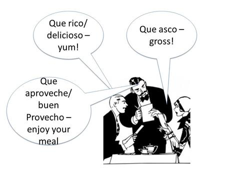 Talking about meals Expresate 6-2. Meals as verbs El