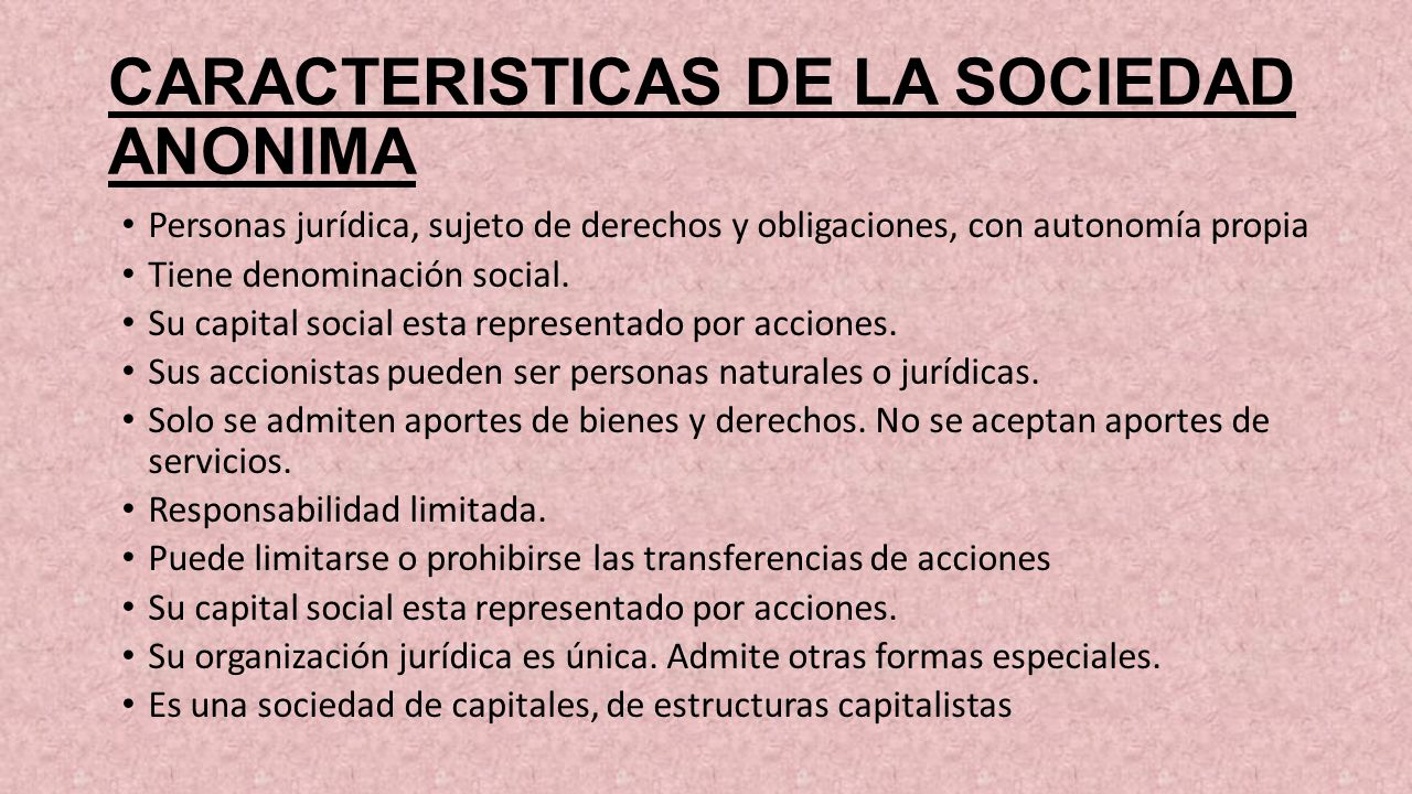 SOCIEDAD ANONIMA  ppt video online descargar