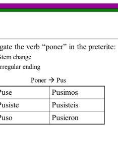 Poner conjugation chart also heartpulsar rh