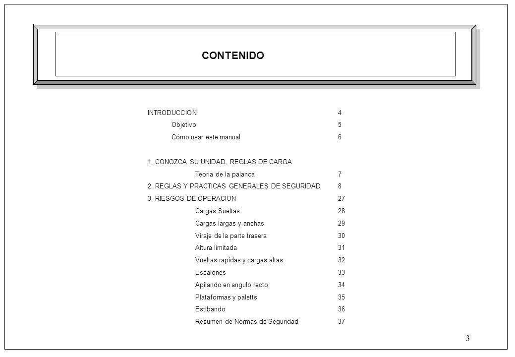 MANUAL DE MONTACARGAS Elaborado: Verificado: Aprobado