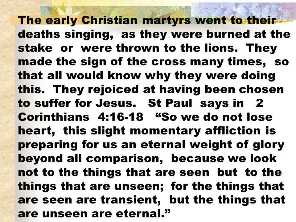 Martyrs Christian Lions