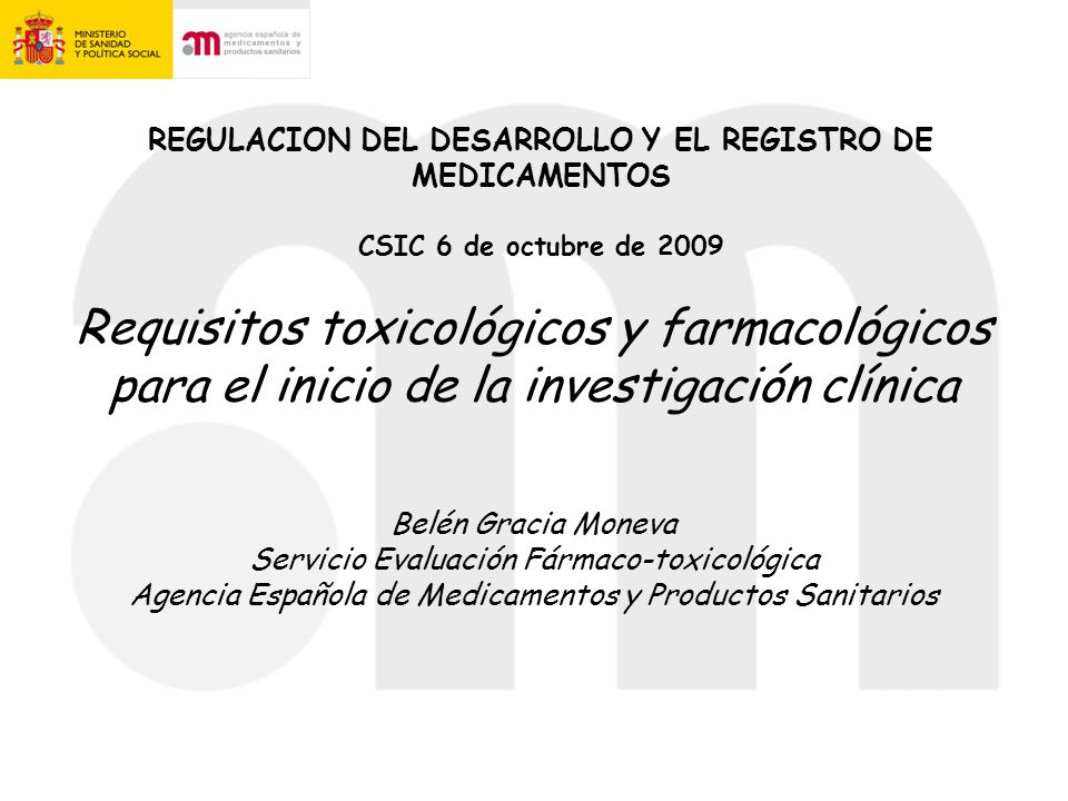 Basic non-clinical requirements for registration of new