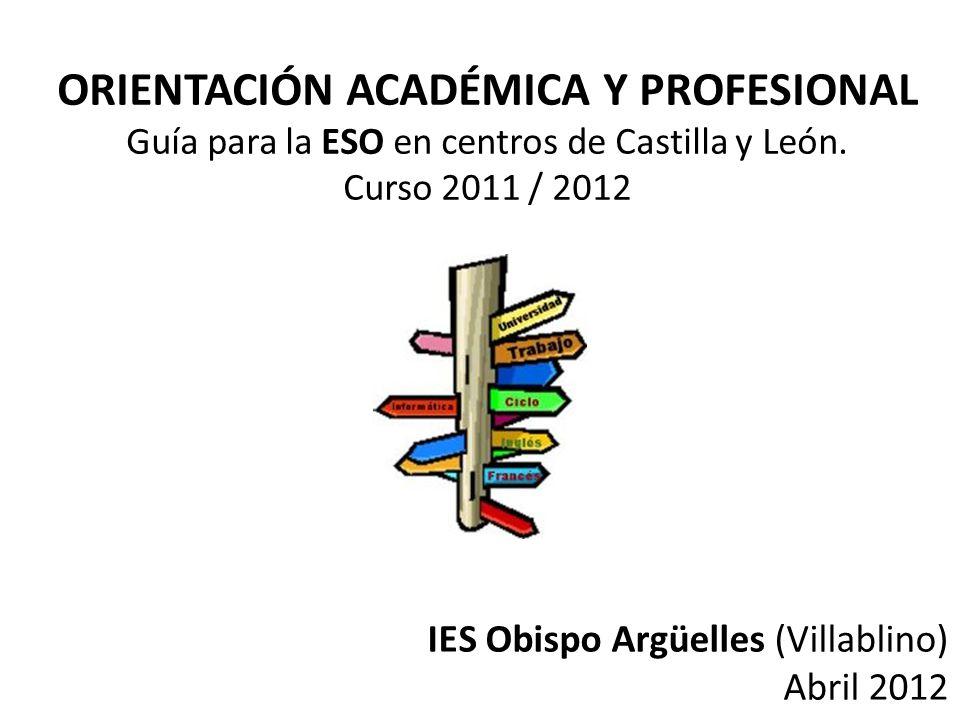 ORIENTACIÓN ACADÉMICA Y PROFESIONAL Guía para la ESO en