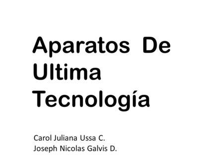 Computadoras De Ultima Tecnología Mariana Mesa Duarte