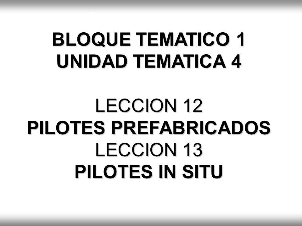 TIPOS DE PILOTES RIGIDO FLOTANTE SEMIRIGIDO. BLOQUE