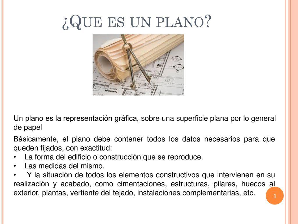 Que es un plano Un plano es la representacin grfica