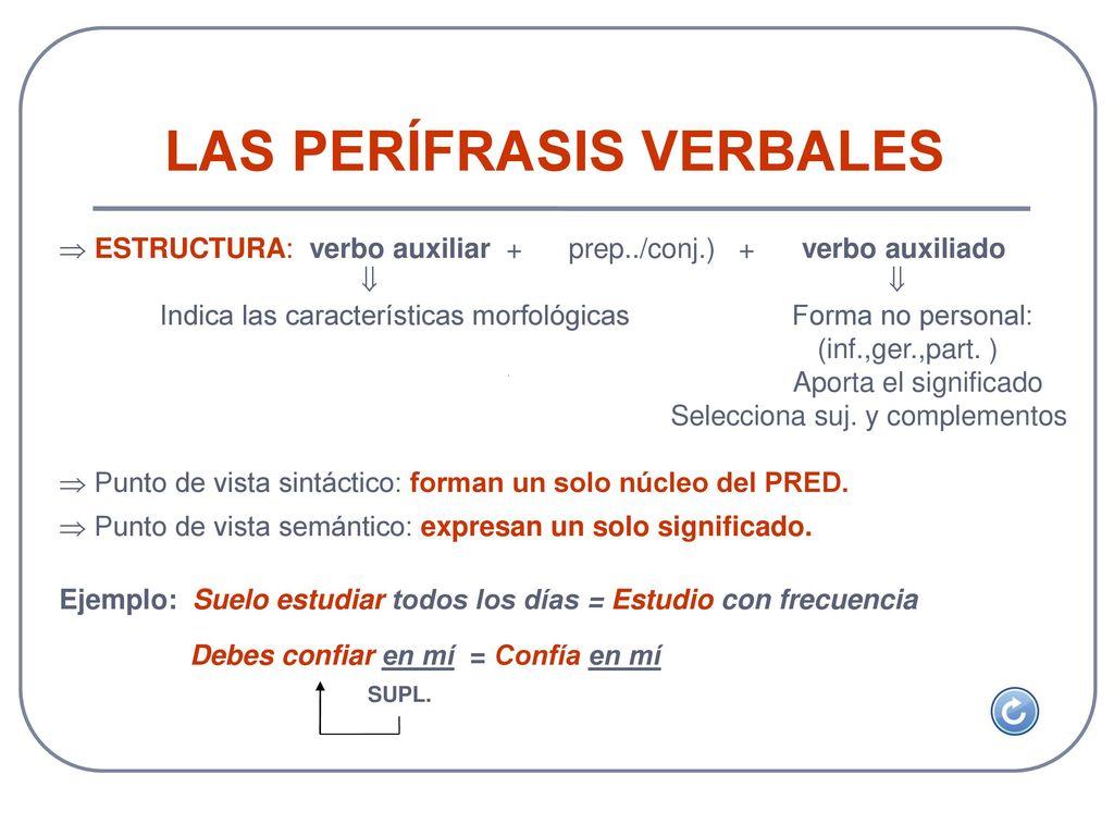 Unidad 5 Las Perifrasis Verbales