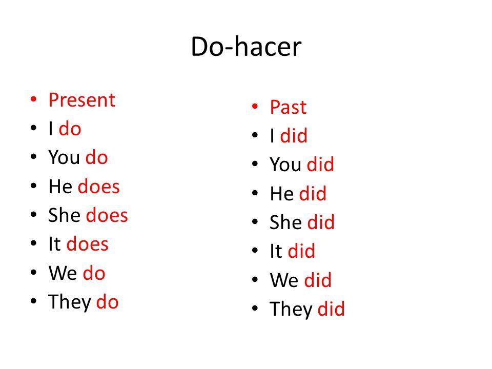 1 basic verbs and