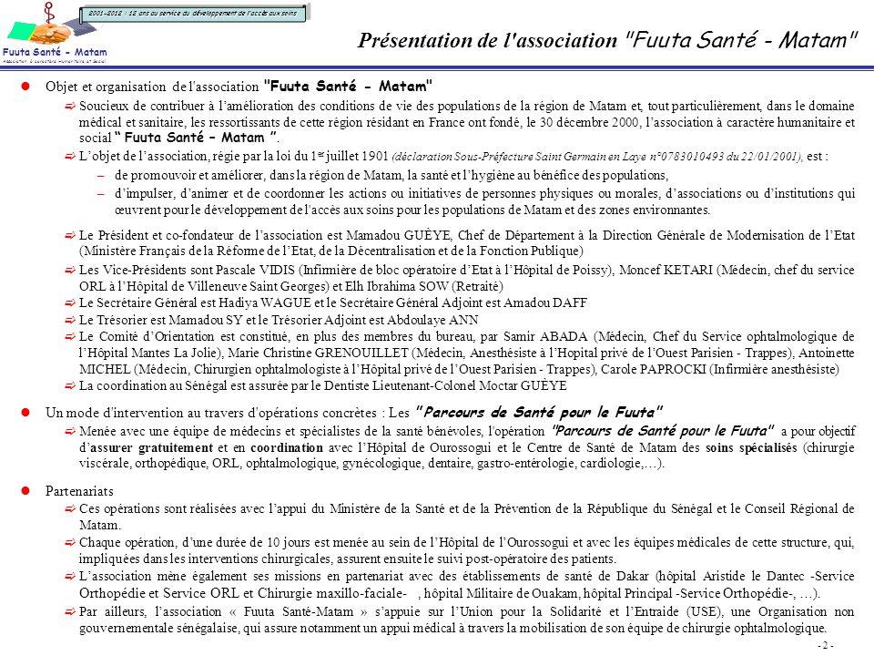 Parcours De Sant Pour Le Fuuta 2012 Ppt Video