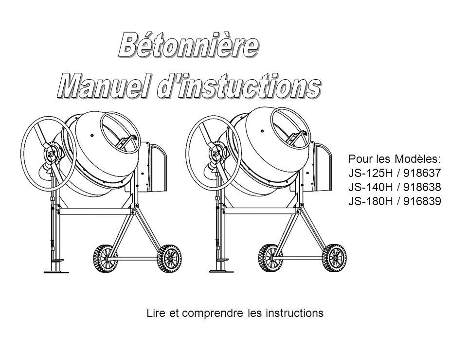 Bétonnière Manuel d'instuctions Pour les Modèles: JS-125H