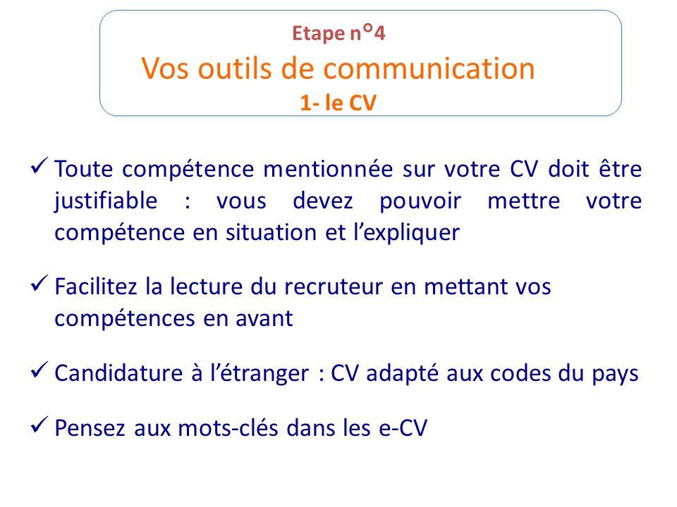 cv competence verbe