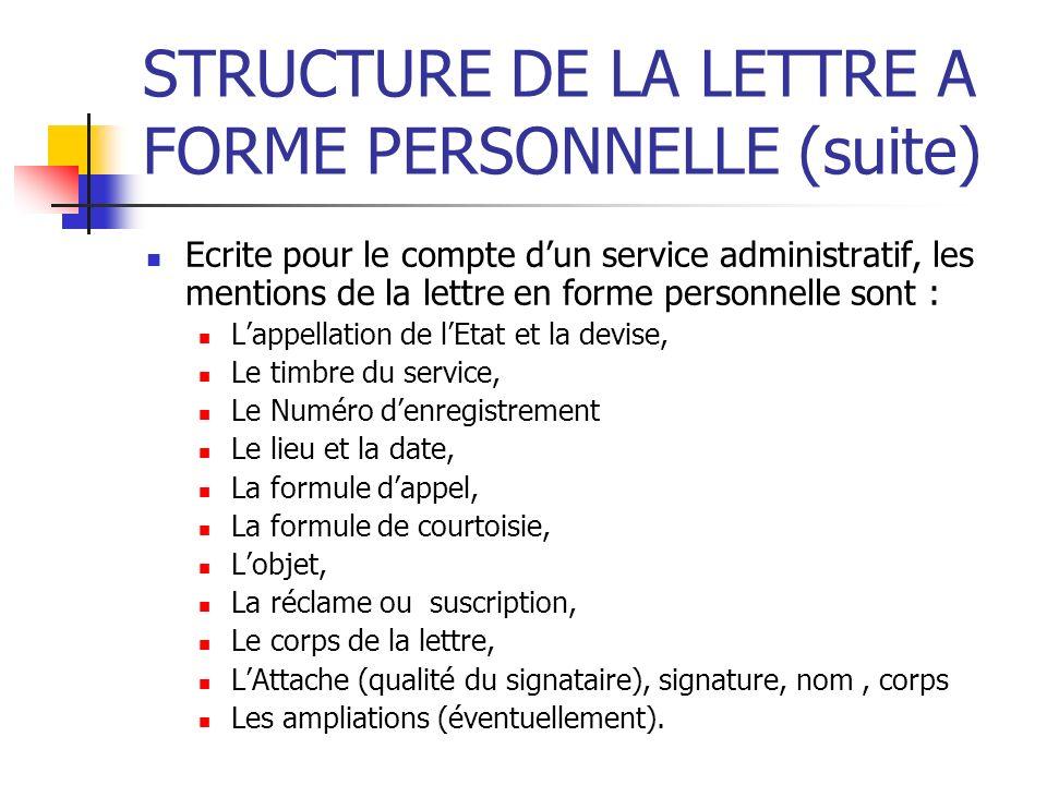 lettre administrative le timbre