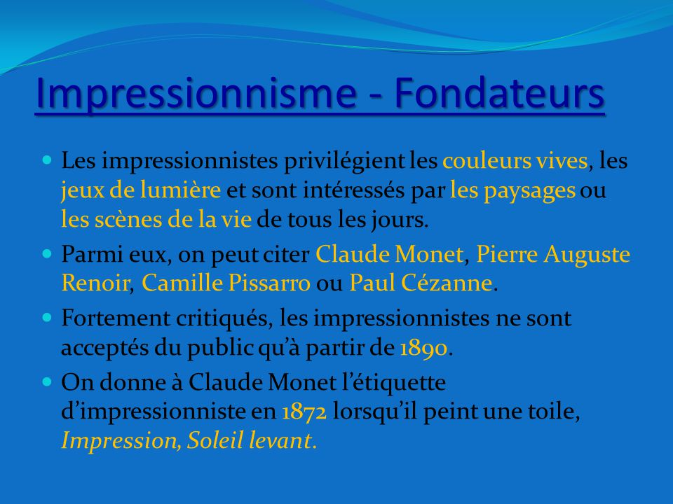 Claude Monet Un Artiste Peintre Ppt Video Online