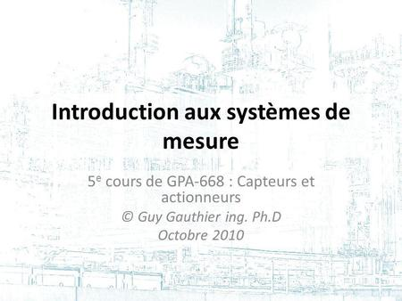 Les P&ID (Piping and Instrumentation Diagram) 2 e cours de