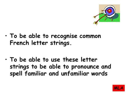 To be able to recognise some common letter strings. (7W6