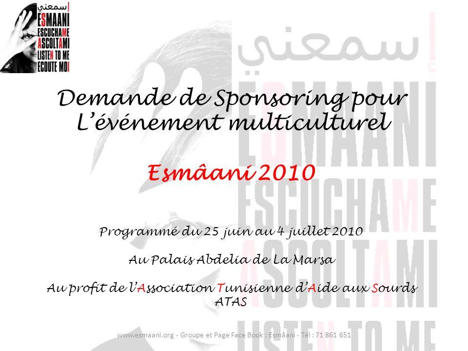 Demande de Sponsoring pour L'événement multiculturel