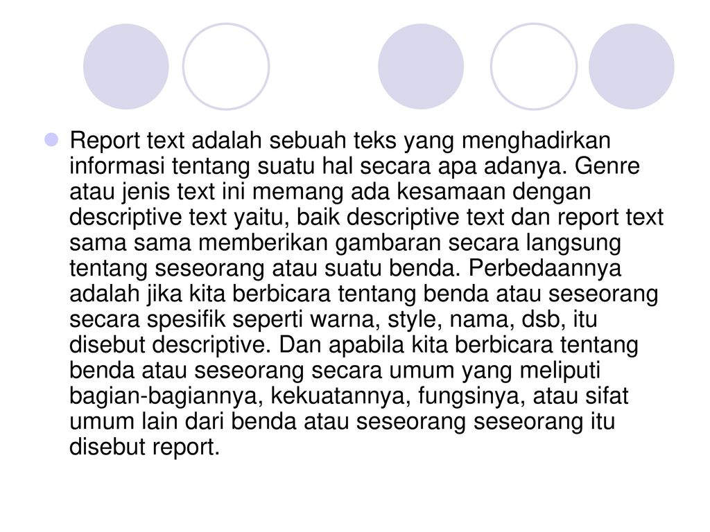 Report Text By Moh Izzuddin S Pd