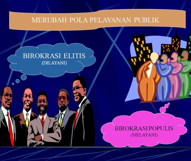 Merubah Pola Pelayanan Publik Birokrasi Elitis Dilayani Birokrasi Populis