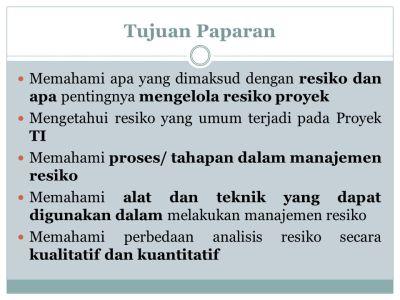Manajemen Resiko Proyek - ppt download