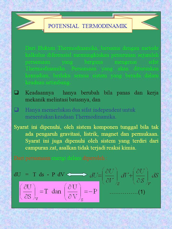 Tentukan persamaan garis singgung kurva 𝑓𝑓𝑥𝑥= 6 𝑥𝑥+3. Dari Hukum Thermodinamika Bersama Dengan Metode Kalkulus Diferensial Memungkinkan Penurunan Sejumlah Persamaan Yang Berguna Mengenai Sifat Thermodinamika Ppt Download