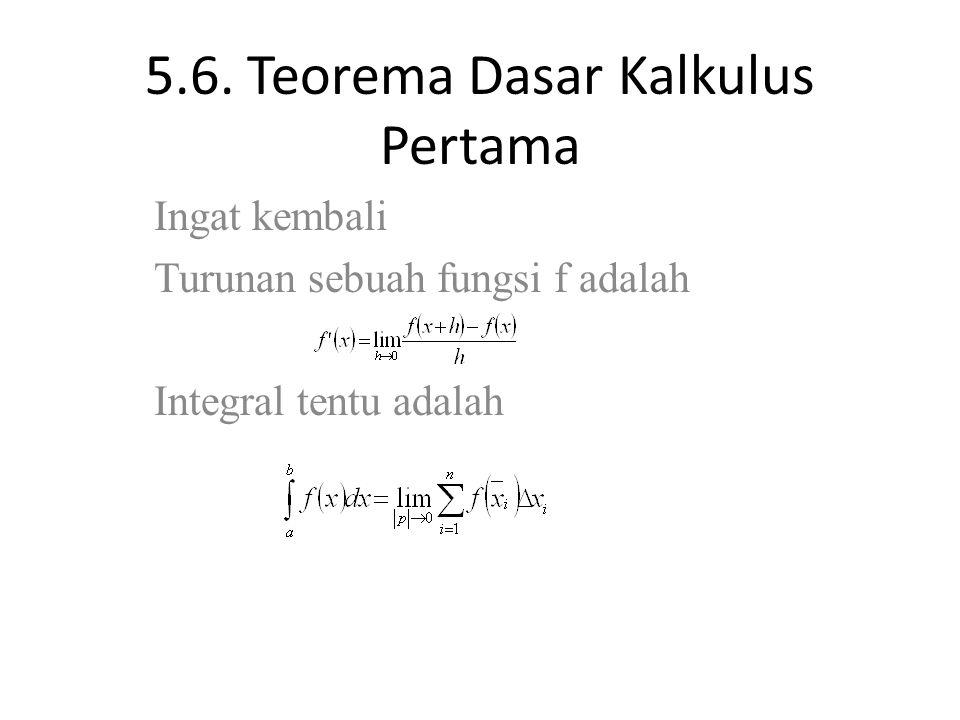 Teorema dasar kalkulus digunakan untuk membantu menyelesaikan proses pengintegralan suatu fungsi. 5 6 Teorema Dasar Kalkulus Pertama Ppt Download