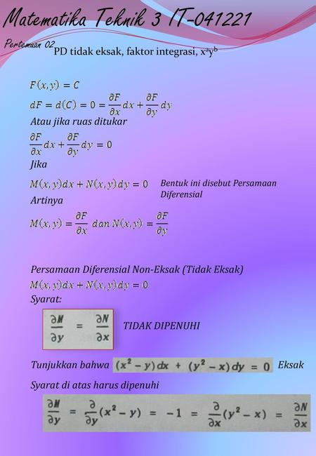 Persamaan Diferensial Eksak : persamaan, diferensial, eksak, Persamaan, Diferensial, Eksak, Download