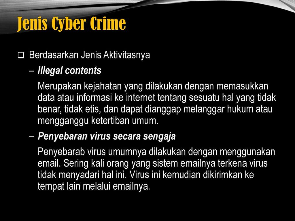 CYBER CRIME MODUS DAN PENANGGULANGANNYA - ppt download
