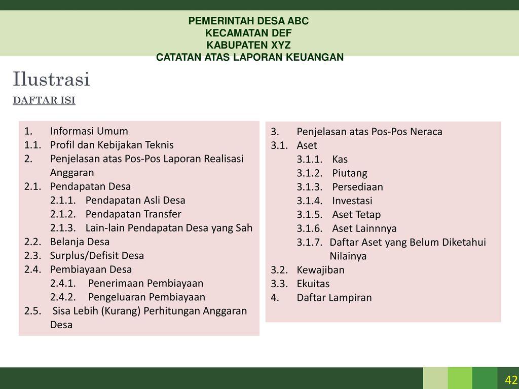 Pemerintah yang belum disajikan dalam lembar muka laporan keuangan; Pelaporan Keuangan Pemerintah Daerah Dan Desa Ppt Download