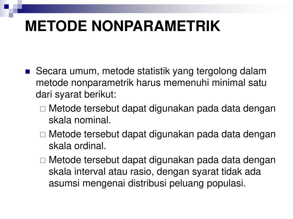 Statistika Parametrik Adalah