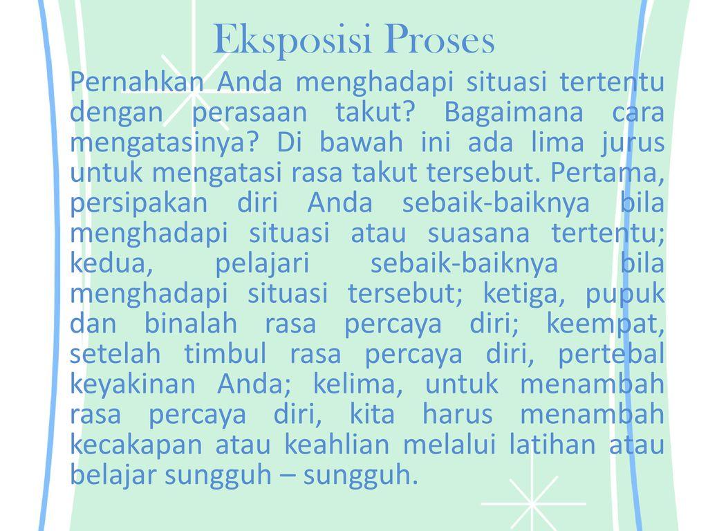 Contoh Teks Eksposisi Proses