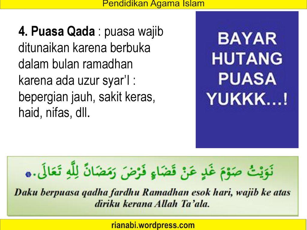 Doa Buka Puasa Ganti Ramadhan Karena Haid