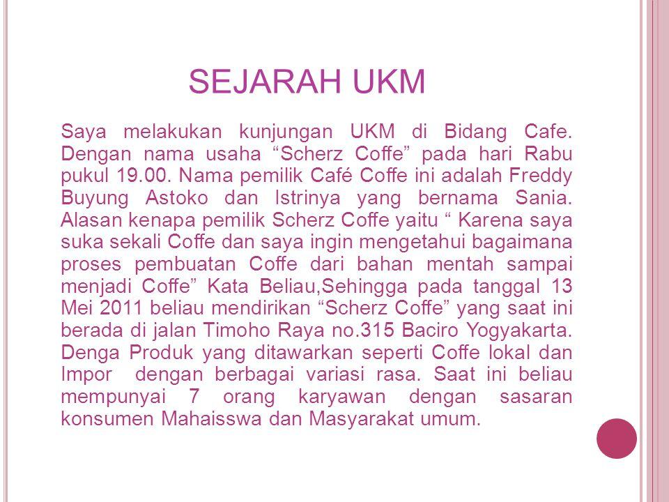 Andono Yanuar Kemal Hasil Wawancara Pengusaha Cafe Tugas Kuliah