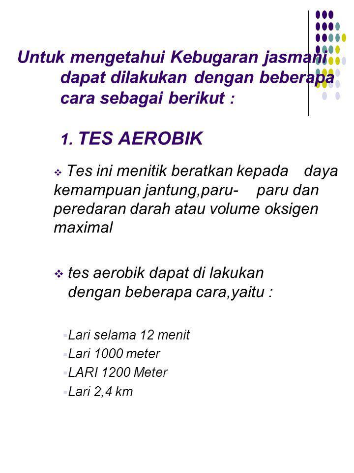 Tes Aerobik Lari Dilakukan Dengan Menempuh Jarak : aerobik, dilakukan, dengan, menempuh, jarak, KEBUGARAN, JASMANI., Download