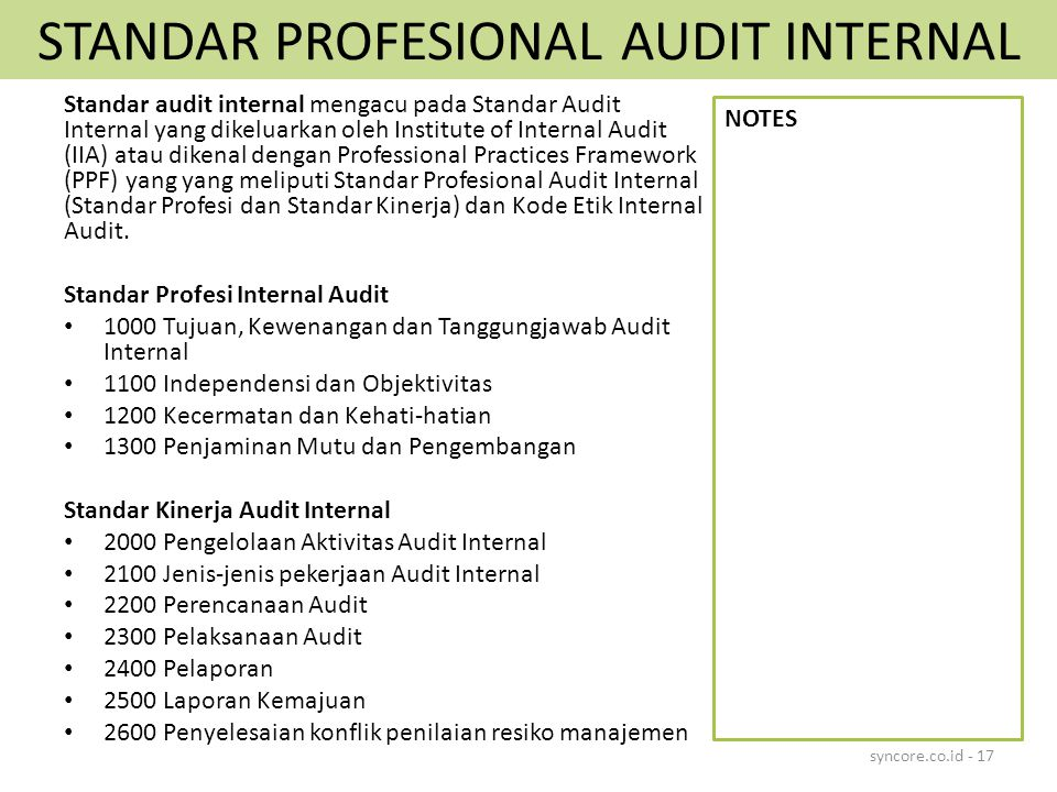Tugas Pengauditan Audit Internal