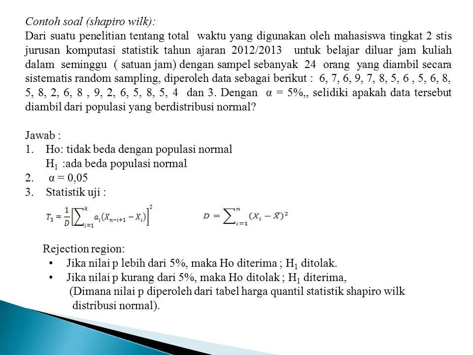 Hipotesis statistik merupakan suatu pernyataan maupun dugaan tentang keadaan dari populasi yang rumus luas trapesium beserta contoh soal dan pembahasannya. Tugas Praktikum Metode Statistik Ppt Download