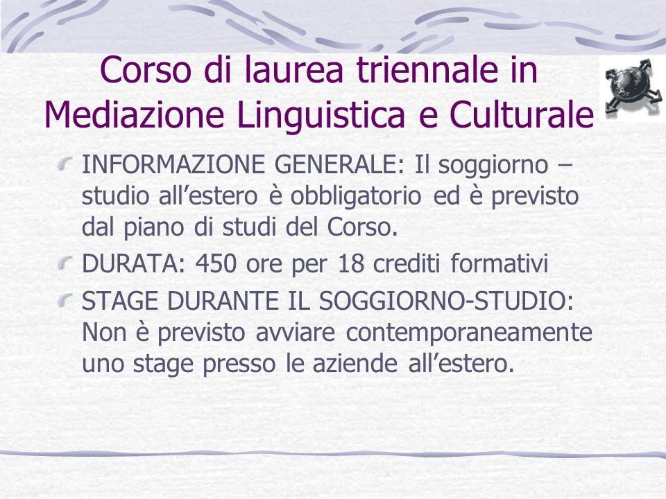 Corso Di Laurea in Mediazione Linguistica e Culturale  ppt scaricare