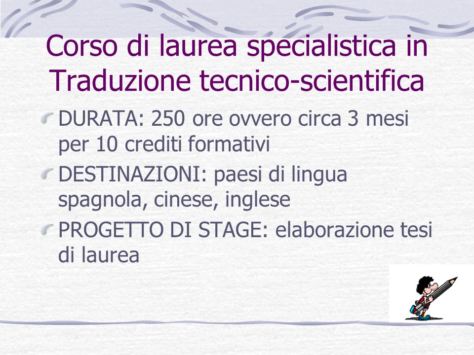 Corso Di Laurea in Mediazione Linguistica e Culturale