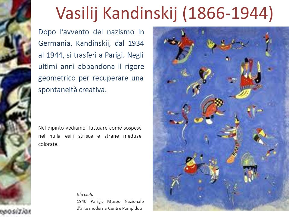 ASTRATTISMO Lettura delle opere Kandinskij Rosso giallo