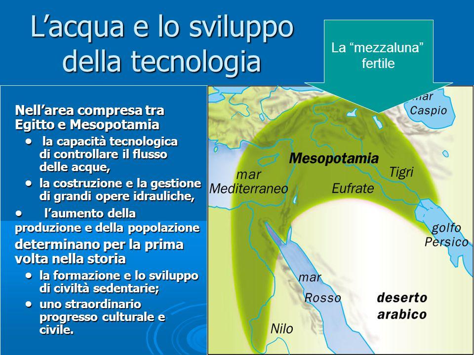 Le civilt idrauliche come il controllo delle acque