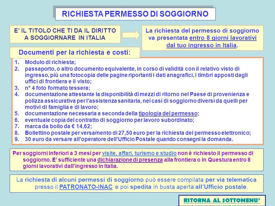 Permesso Di Soggiorno Online Poste Italiane | Informazioni ...