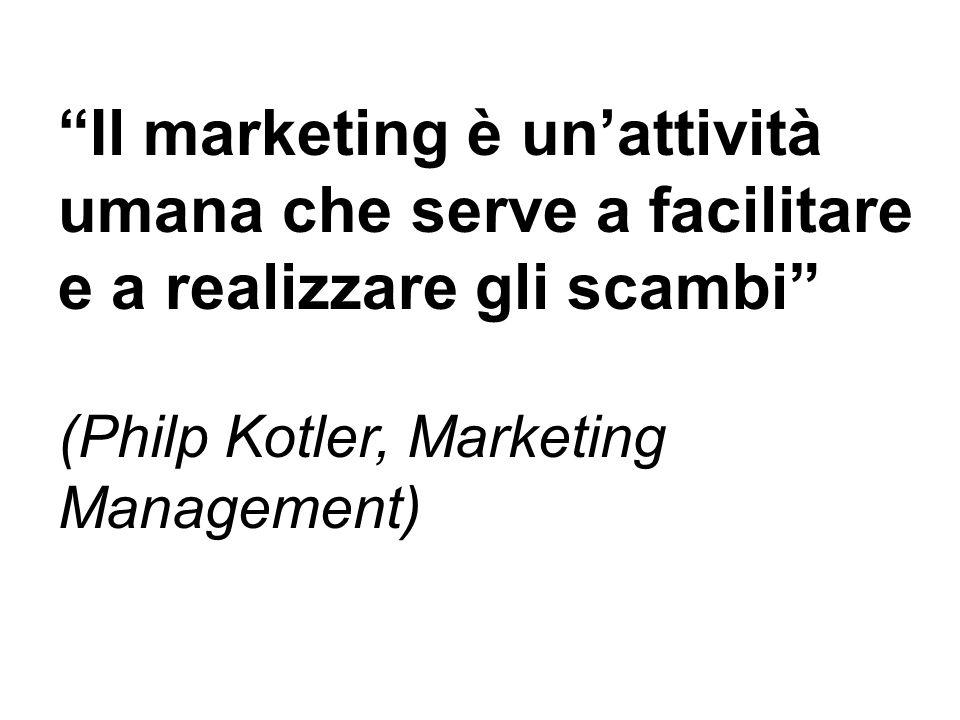 """""""Il marketing è un'attività umana che serve a facilitare e"""