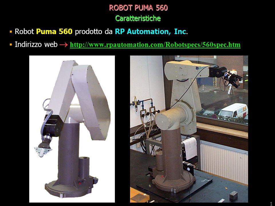 ROBOT PUMA 560 Caratteristiche  ppt scaricare