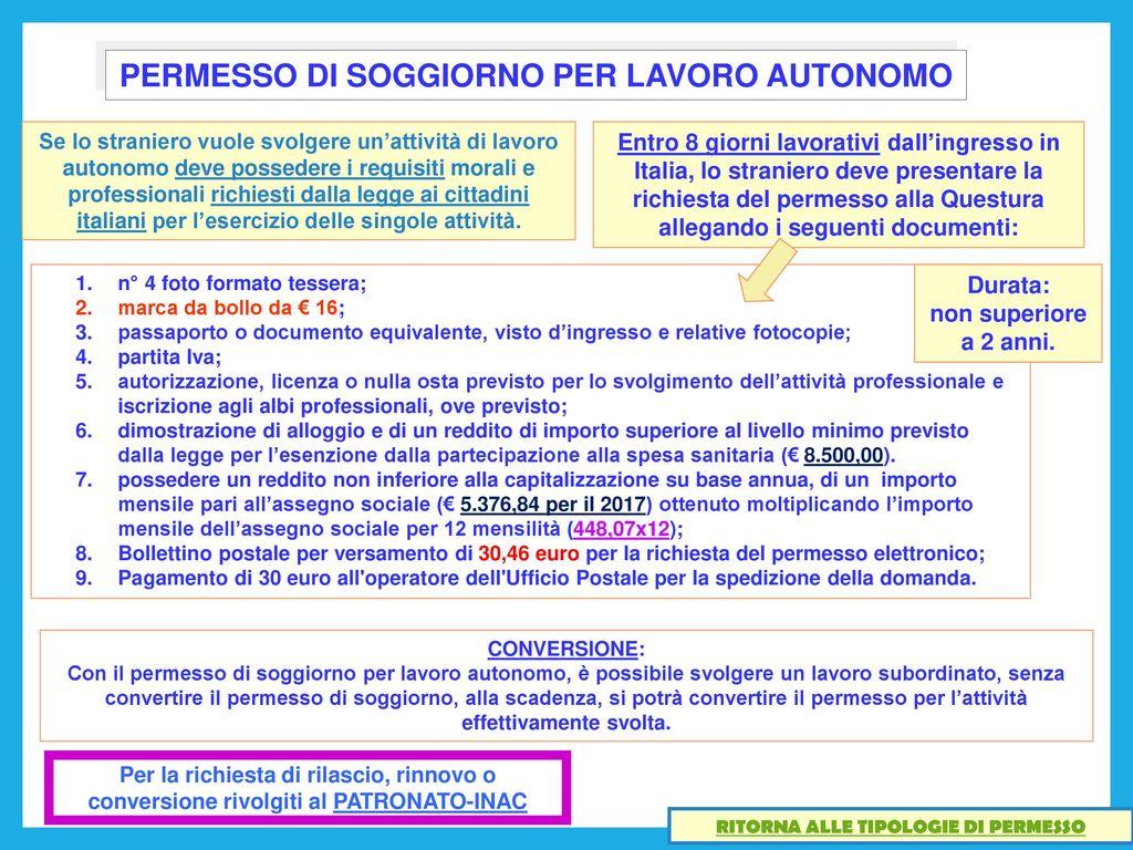 Beautiful Carta De Soggiorno Requisiti Ideas ...