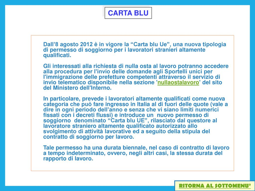 Rinnovo Permesso Soggiorno Carta Blu | Beautiful Carta Di Soggiorno ...