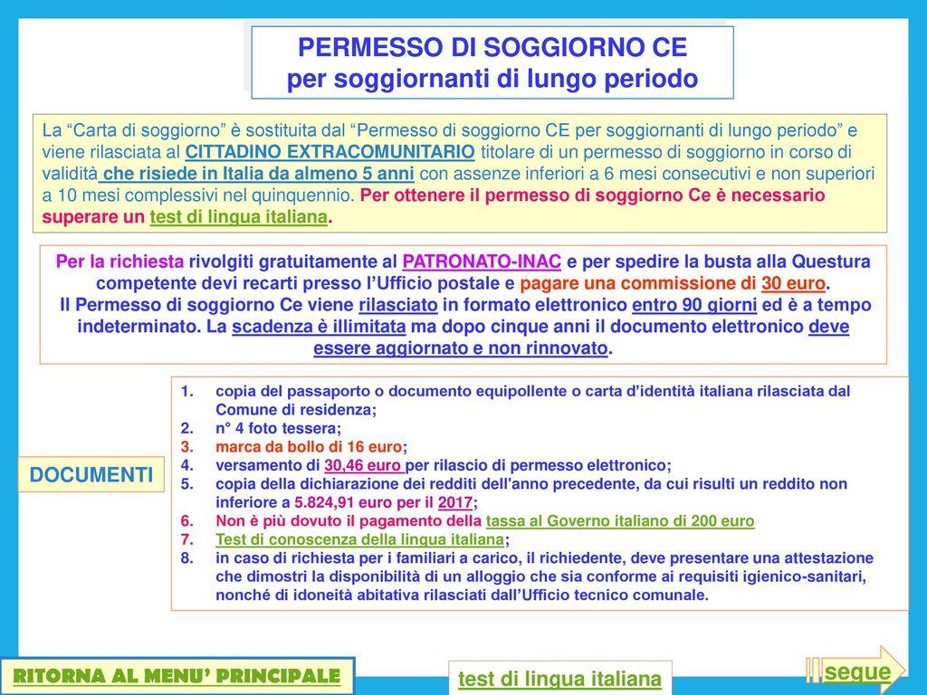 Permesso Soggiorno Carta Blu Ue   Permesso Di Soggiorno Illimitato ...
