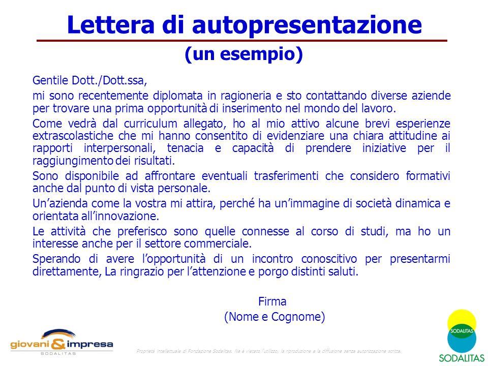 Il Curriculum Vitae 1 Proprietà Intellettuale Di Fondazione
