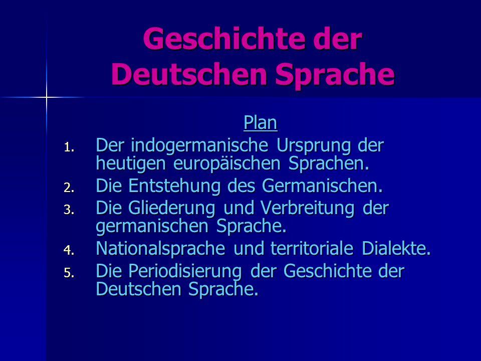 Geschichte der Deutschen Sprache  ppt herunterladen